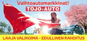 Tutustu vaihtoautoihimme ja tee yhteydenottopyyntö myyntiin niin olemme sinuun yhteydessä. Vaihtoautot löydät: www.tojoauto.fi/vaihtoautot/vaihtoautohaku.html  Toyota rahoituksella saat lisäksi turvaa epävarmoihin aikoihin. Voit saada kolmen kuukauden maksuvapaan haluamallasi hetkellä. Ja mikäli menetät toimeentulosi, maksamme kolmen kuukauden osamaksuerät puolestasi.