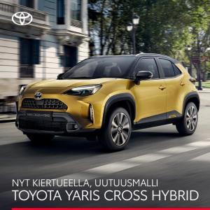Uusi Toyota Yaris Cross nyt ennakkokiertueella liikkeissämme. Tervetuloa tutustumaan!  Rovaniemi 14.7 Sodankylä 15.7 Keminmaa 16...