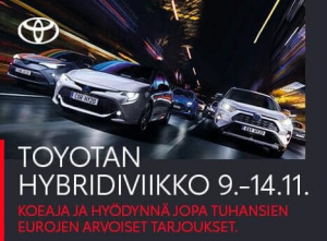 Koeaja itselataavat hybridimme, ja näe sähköajon osuus ajoajastasi. Nyt hybridiviikolla saat koeajosi sähköajon verran alennusta...