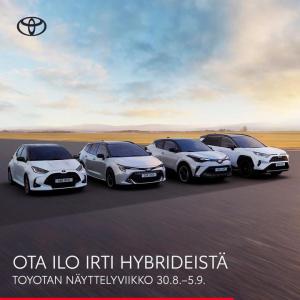 Ota selvää mistä Suomen suosituimmat hybridit on tehty. Rajattuun erään Corolla- ja Yaris-malleja Hybridipaketti nyt 0€.  Tervet...