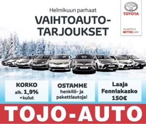Parhaat vaihtoautot löydät Tojo-Autosta! Nyt lisäksi edullinen rahoitus sekä vakuutustarjouksia - katso lisää ja ota yhteyttä: https://www.tojoauto.fi/vaihtoautot/vaihtoautohaku.html